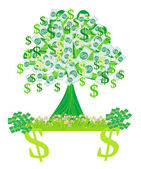 Money growing on trees - abstract card — Stock Vector
