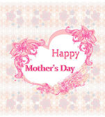 Happy Mother's Day - Lovely Greeting Card — Stock Vector