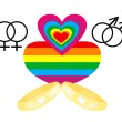 Gay Marriage icons — Stock Vector