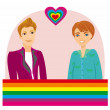 Stock Vector: Gay Couple