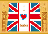 Grunge banner - i love London — Stock Vector
