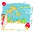 vertor surf beach illustration — Stock Vector