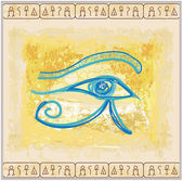 Eye of horus - vintage background — Stock Vector