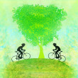 Stock Photo: Cycling Poster
