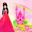 Magic Fairy Tale Princess Castle - Stock Photo