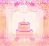 Happy Birthday Card - raster illustration — Foto de Stock