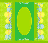 Easter festive background and egg in grass — Stock Vector