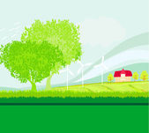 Eco farming - landscapes — Stock Vector
