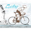 Cycling Grunge Poster - Stock Vector