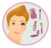 Homem de maquiagem como uma mulher — Vetorial Stock