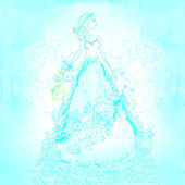 Carte de la belle mariée — Photo