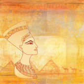 Old paper with Egyptian queen — Stock Photo