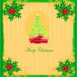 Christmas tree with abstract holly berry decoration — Stock Vector #25562185