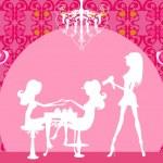 Vector illustration of the beautiful woman in beauty salon — Stock Vector #25561349