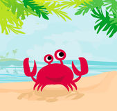 Illustration of a funny crab — Stock Vector
