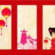 Chinese New Year cards and banners collection - Stock vektor