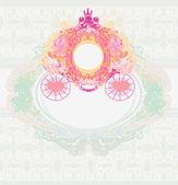 Старинные цветочные перевозки приглашение — Cтоковый вектор