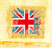 Grunge banner with London — Stock Vector