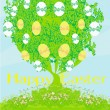 Easter tree card — Stock Vector