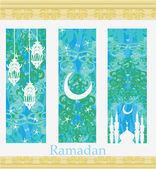 Islamic Banners set - Ramadan — Stock Vector