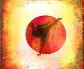 Karate Grunge background — Stock Photo