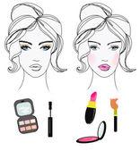 Beautiful girl wearing makeup — Stock Photo