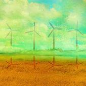 Ekologické zemědělství - krajiny — Stock fotografie