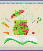 Cooking book cover. vector illustration — Stock Vector