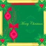 Vánoční přání styl rámce — Stock vektor