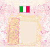Pisa kulesi antika arka plan vektör — Stok Vektör