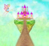 Castelo de princesa de conto de fadas mágico — Fotografia Stock