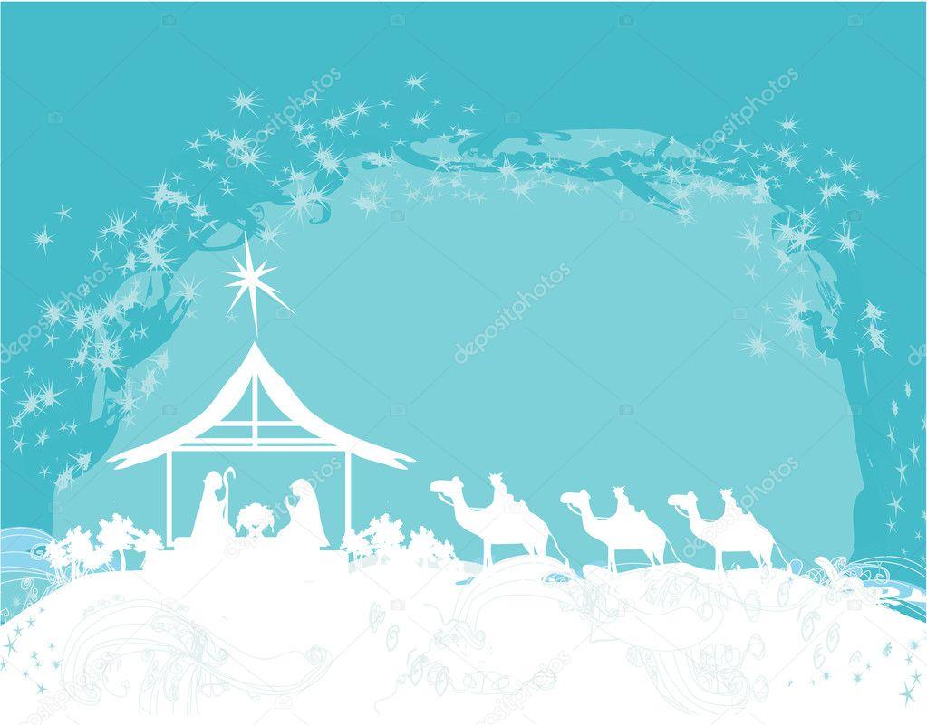 Christmas Nativity Scene Silhouette Christian christmas nativity