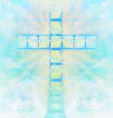 Sklo kříž v nebi — Stock fotografie