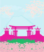 Beautiful landscape in Japan — Stock Vector