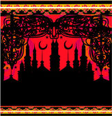 Abstract religious background - Ramadan Kareem Vector Design — Stok Vektör