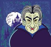 ハロウィーン招待状やドラキュラと暗い cas ハロウィーン カード — ストックベクタ