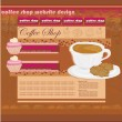 Coffee Shop Website Design  — Stock Vector