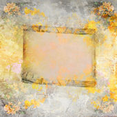Wooden frame on autumn background — Stock Photo