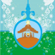 Christian Christmas nativity scene of baby Jesus in transparent — Vector de stock