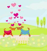 Jolis museaux dans l'amour — Vecteur