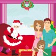 Stock Vector: Family Christmas at home