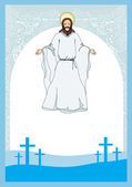 Jesus Christ bless, vector illustration — Stock Vector