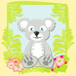 Illustration of Cute koala — Stock Vector