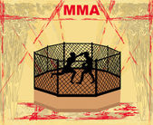 MMA Competitions, Grunge poster — Stock Vector
