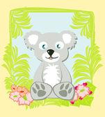 Illustration of Cute koala — Stock Vector