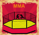 MMA Competitions, Grunge poster — Vector de stock