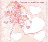 Valentines tree background — Stock Vector