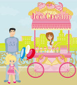 Ice Cream Mobile Shop — Stock Vector