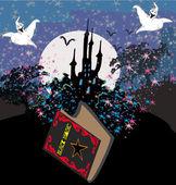 Black Magic Book — Wektor stockowy