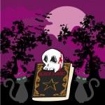 Black magic book - abstract vector for halloween — Stock Vector #39502205
